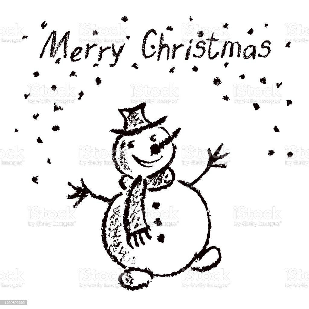 Colorie Comme Enfant Dessin Joyeux Noël Drôle Bonhomme De