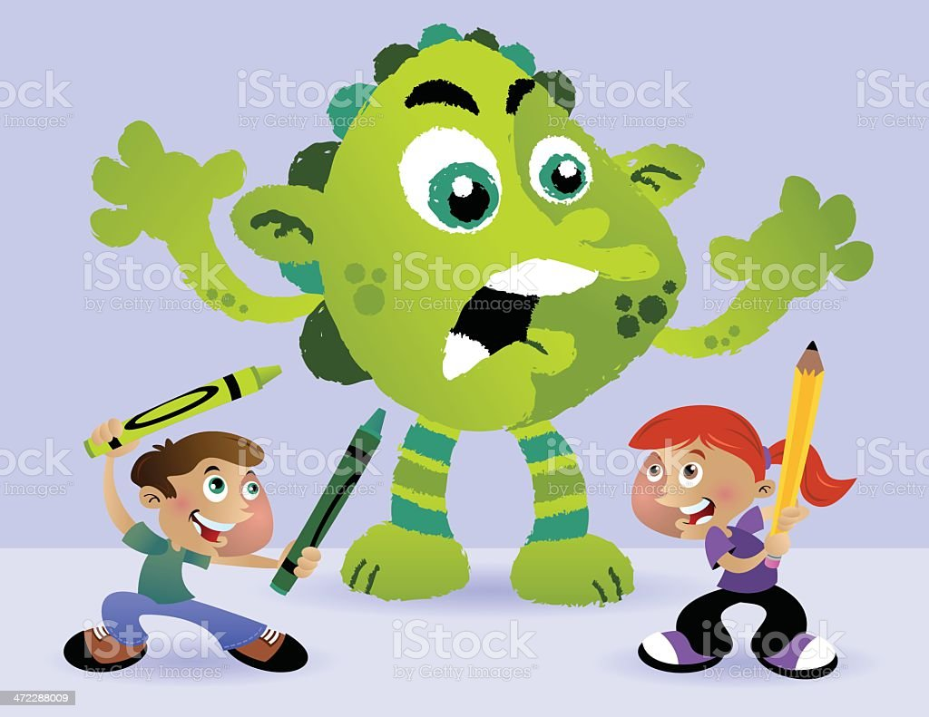 Crayon Monster royalty-free crayon monster stock vector art & more images of animal