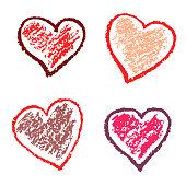 Crayon valentine hearts love funny.