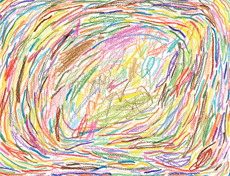 Crayons drawing background pattern