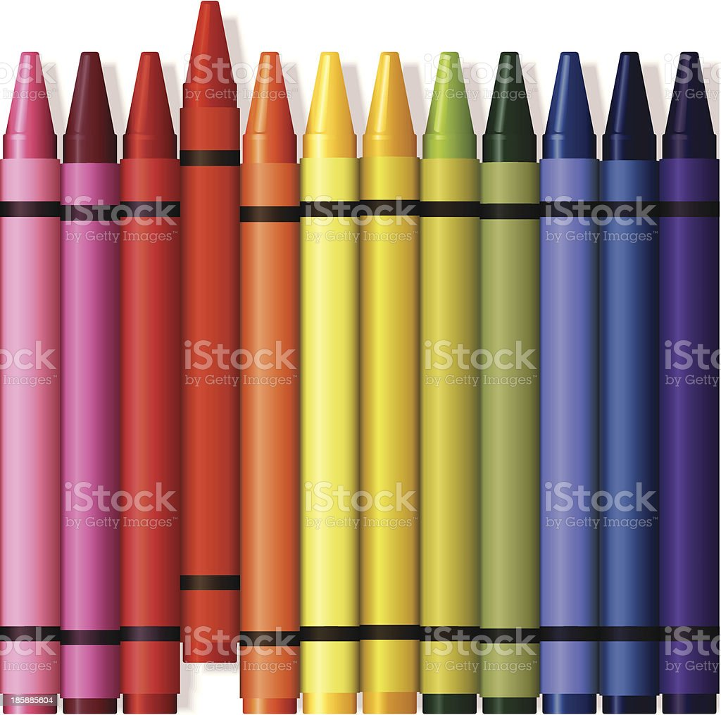 Crayons Illustration vector art illustration