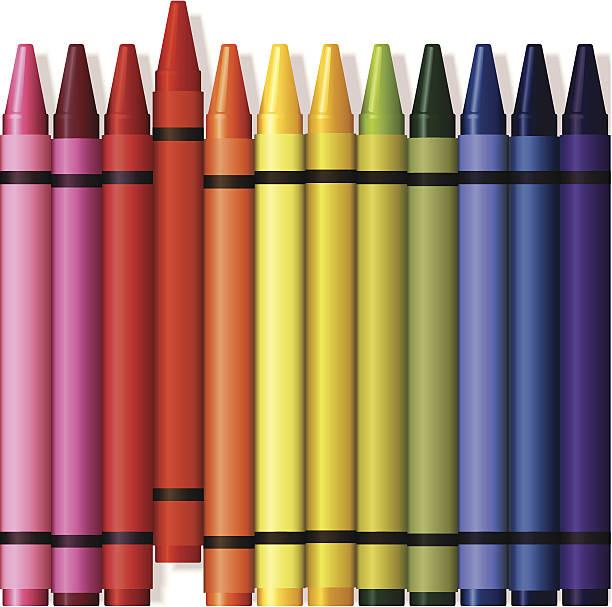 Crayons Illustration vector art illustration