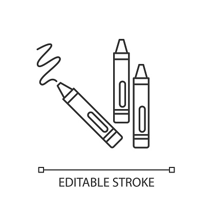 Crayons pixel perfect linear icon