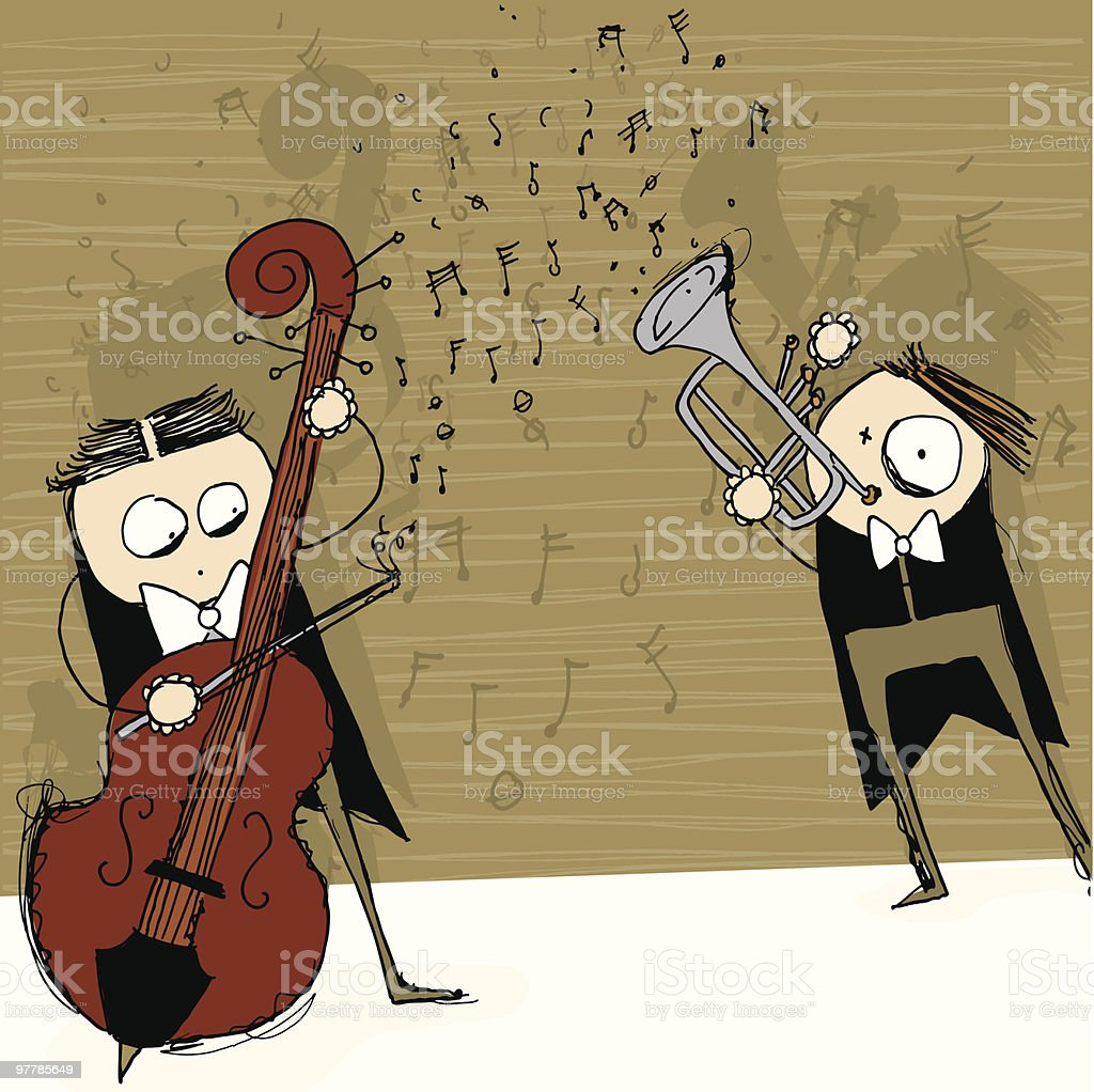 crazy classic symphony duet - vector challenge november royalty-free stock vector art