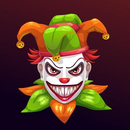 Crazy creepy joker face