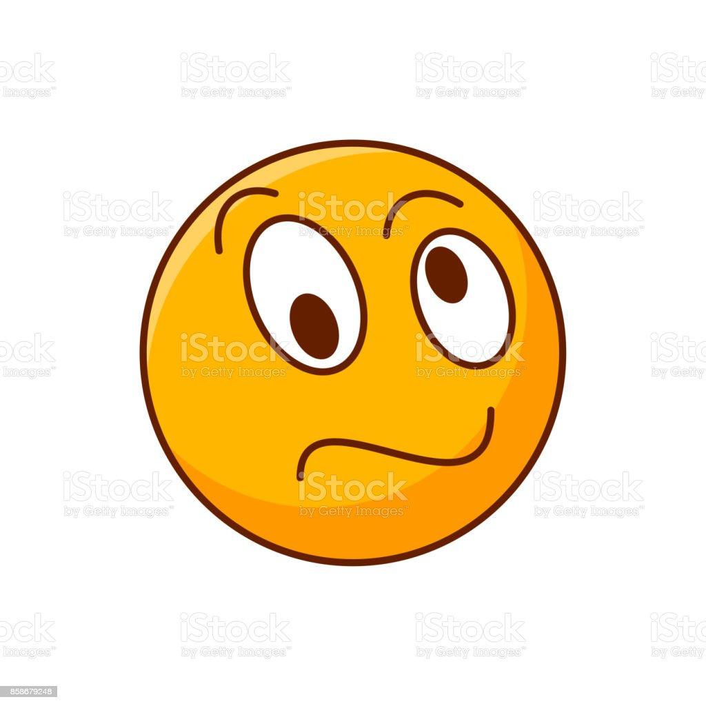 Crazy emoji yellow confused smiley editable emoticon royalty free crazy emoji yellow confused