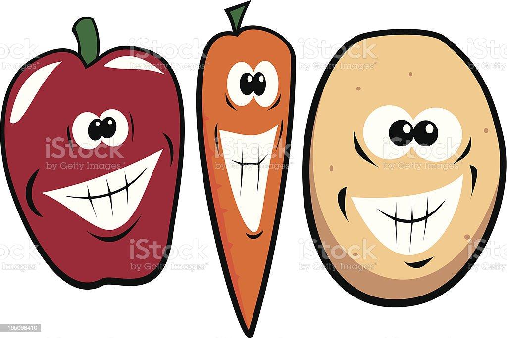 Crazy Grinning Veg royalty-free crazy grinning veg stock vector art & more images of art