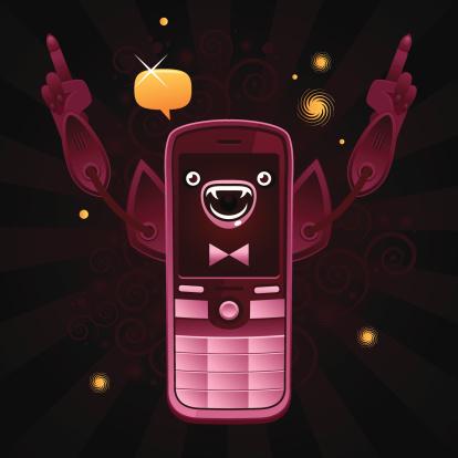 Crazy happy robot phone