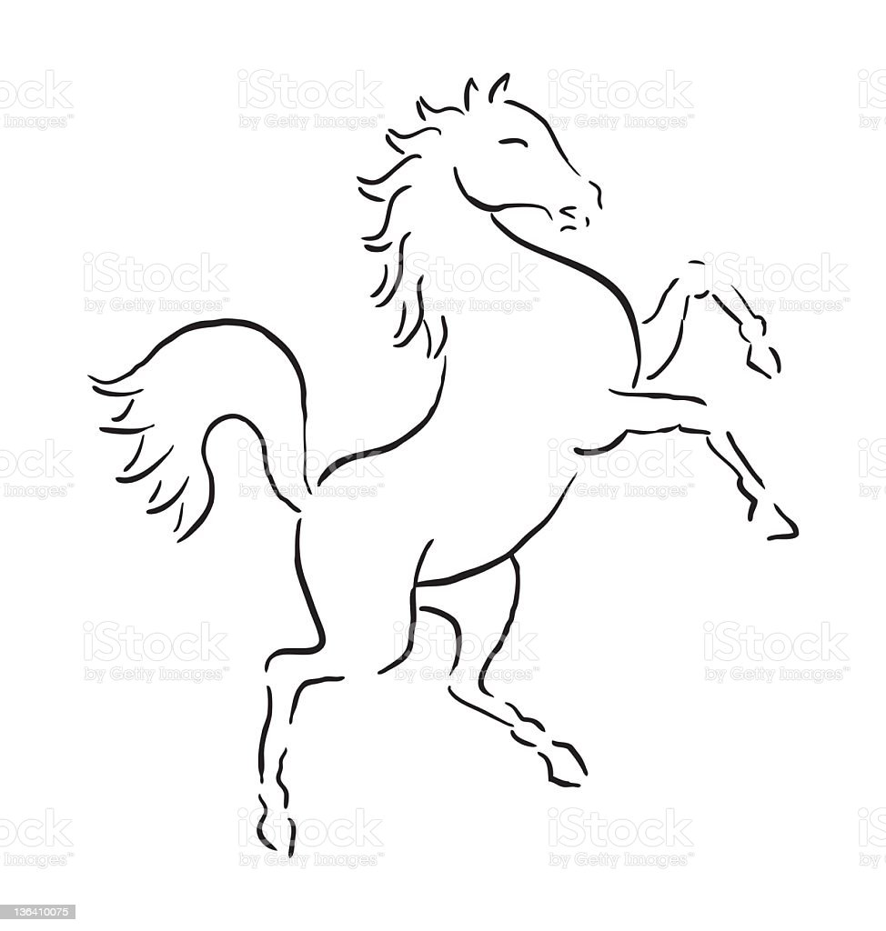 Rearing Horse Coloring Pages how to draw tmnt characters coloring ...