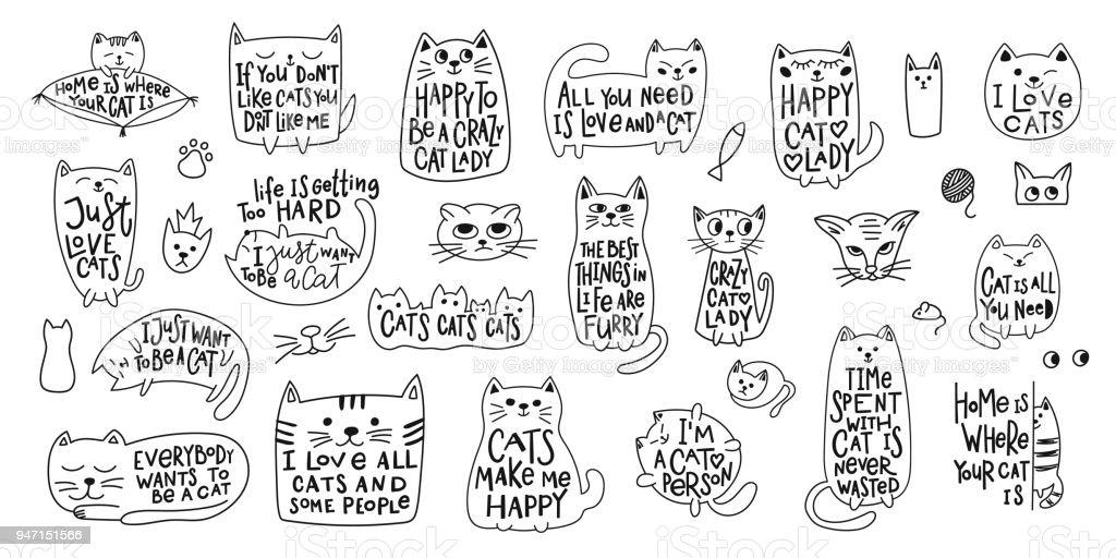 Camisa de senhora de gato louco amor citar letras vetores de camisa de senhora de gato louco amor citar letras e mais imagens de adulto royalty-free