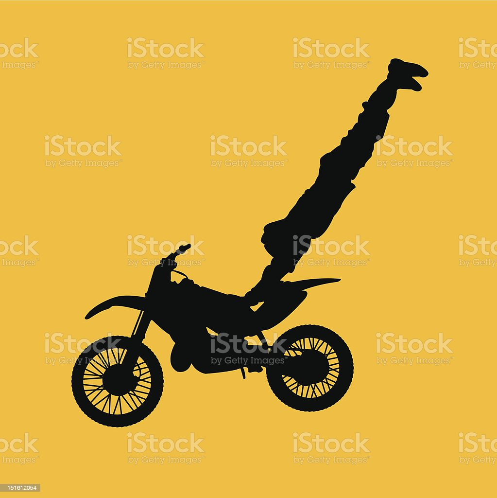 crazy motocross jump royalty-free crazy motocross jump stock vector art & more images of activity