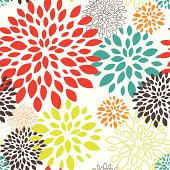 Vector illustration of seamless colorful floral pattern.