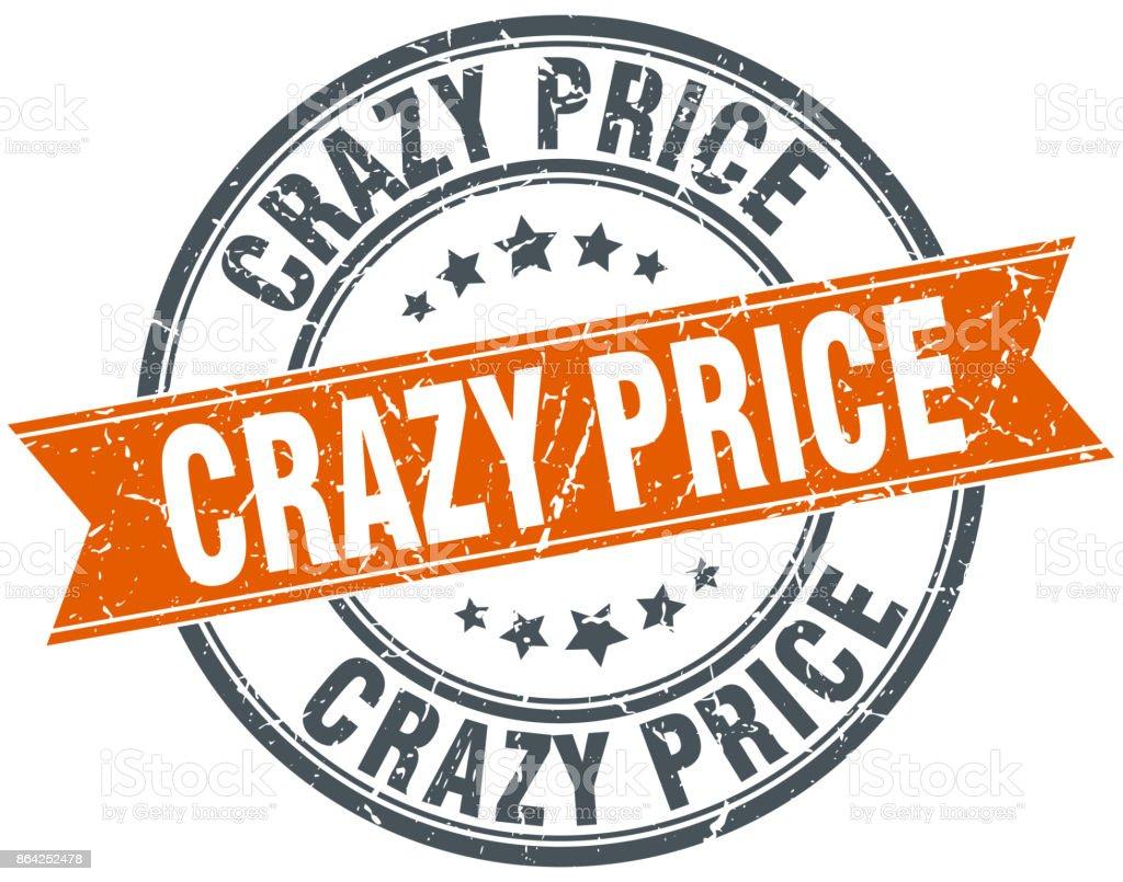 crazy price round grunge ribbon stamp royalty-free crazy price round grunge ribbon stamp stock vector art & more images of award ribbon