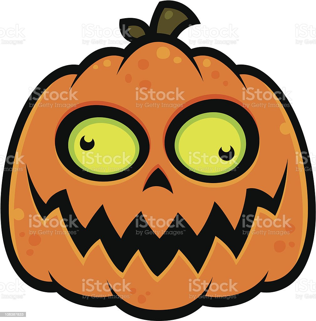 Crazy Pumpkin vector art illustration