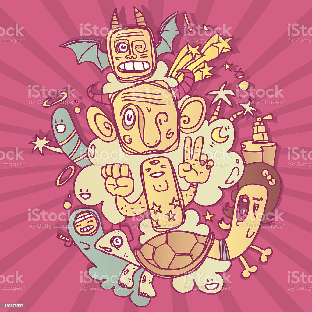 Crazy totem royalty-free stock vector art