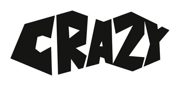 Crazy vector art illustration