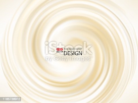 istock Cream abstract swirling background, creamy texture. vector 1185738912
