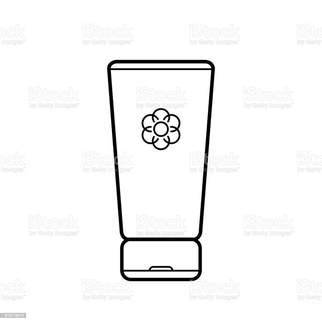 Cream. Baby icon on a white background, line vector design. vector art illustration