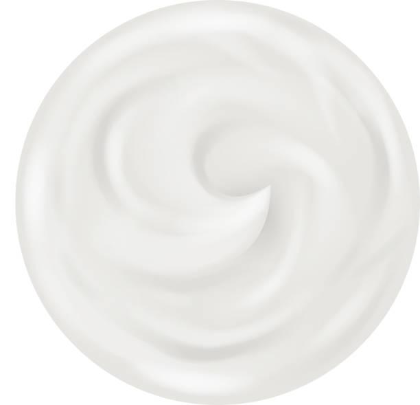 Cream Curl Realistic Background Isolated 3d Design Vector Illustration vector art illustration
