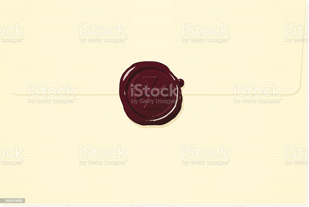 Cream envelope with red cross wax seal royalty-free cream envelope with red cross wax seal stock vector art & more images of antique