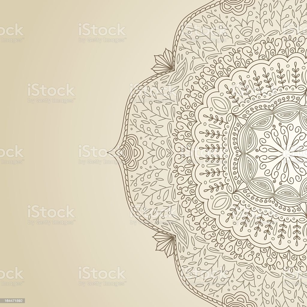 Cream greeting card with an intricate pattern design royalty-free cream greeting card with an intricate pattern design stock vector art & more images of art and craft