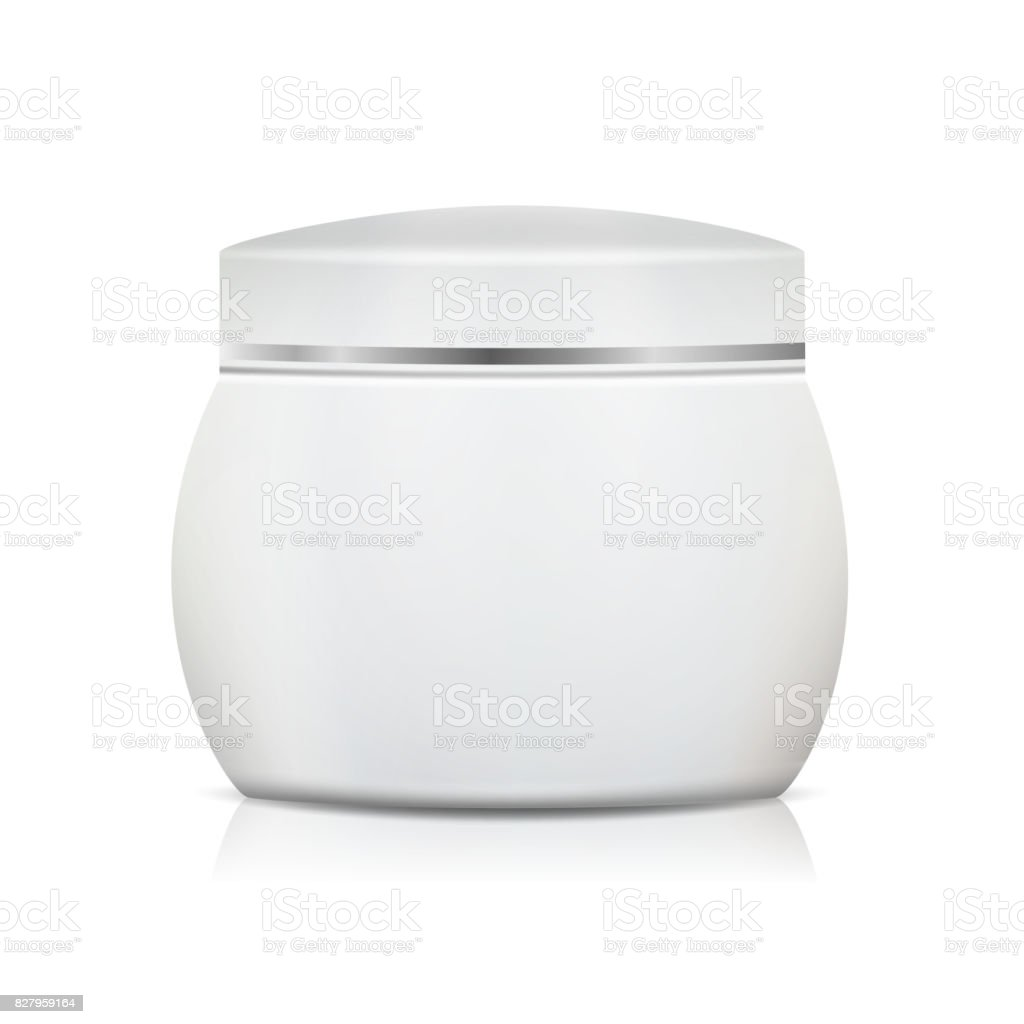 Cream Jar Blank Vector Realistic Packaging Mock Up Template For ...