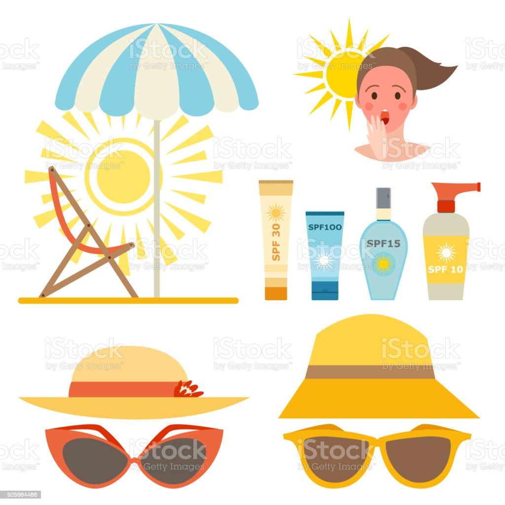 日焼け止めクリーム ボトル ベクトル アイコン日焼け止め化粧品夏