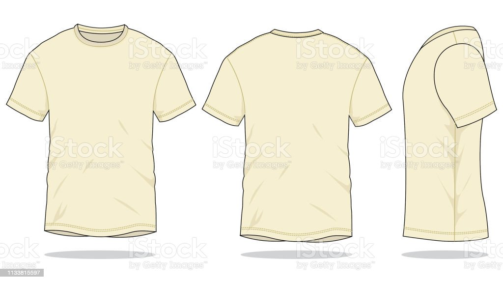 Cream Tshirt Vector For Template Stock Illustration Download Image