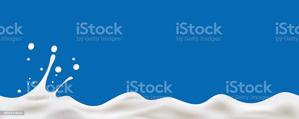 Cream Yogurt wave background vector art illustration