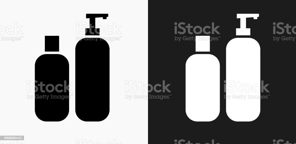 Creams Icon on Black and White Vector Backgrounds vector art illustration