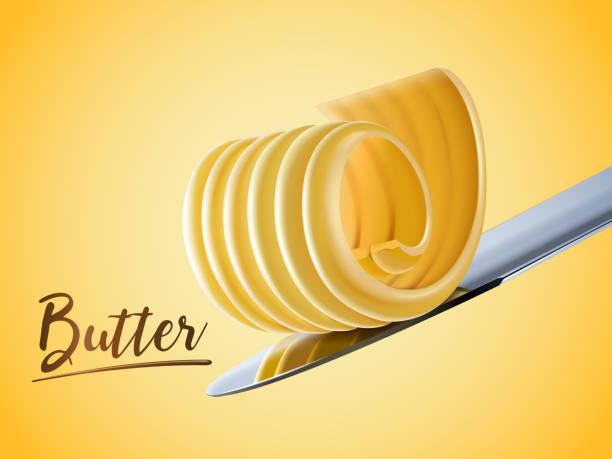 ilustrações de stock, clip art, desenhos animados e ícones de creamy butter element - manteiga