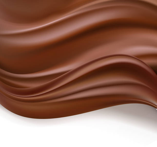 creamy chocolate background - 초콜릿 stock illustrations