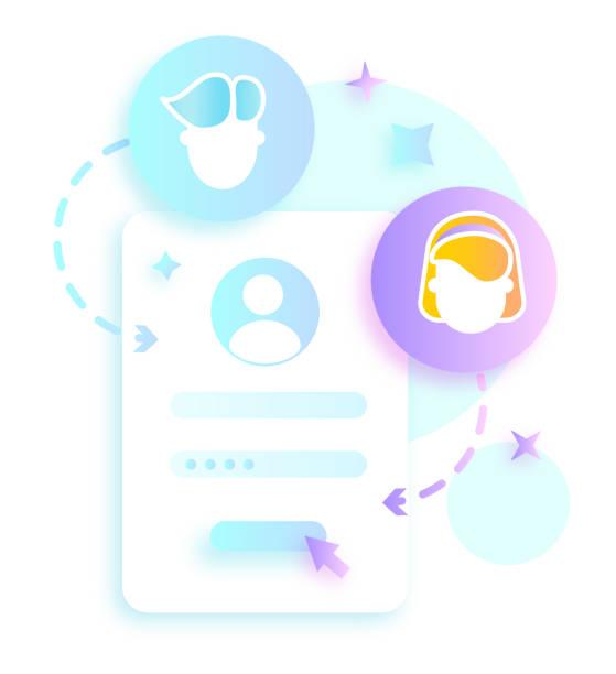 Create Account vector art illustration