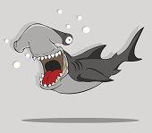 create Cartoon Hammerhead Shark