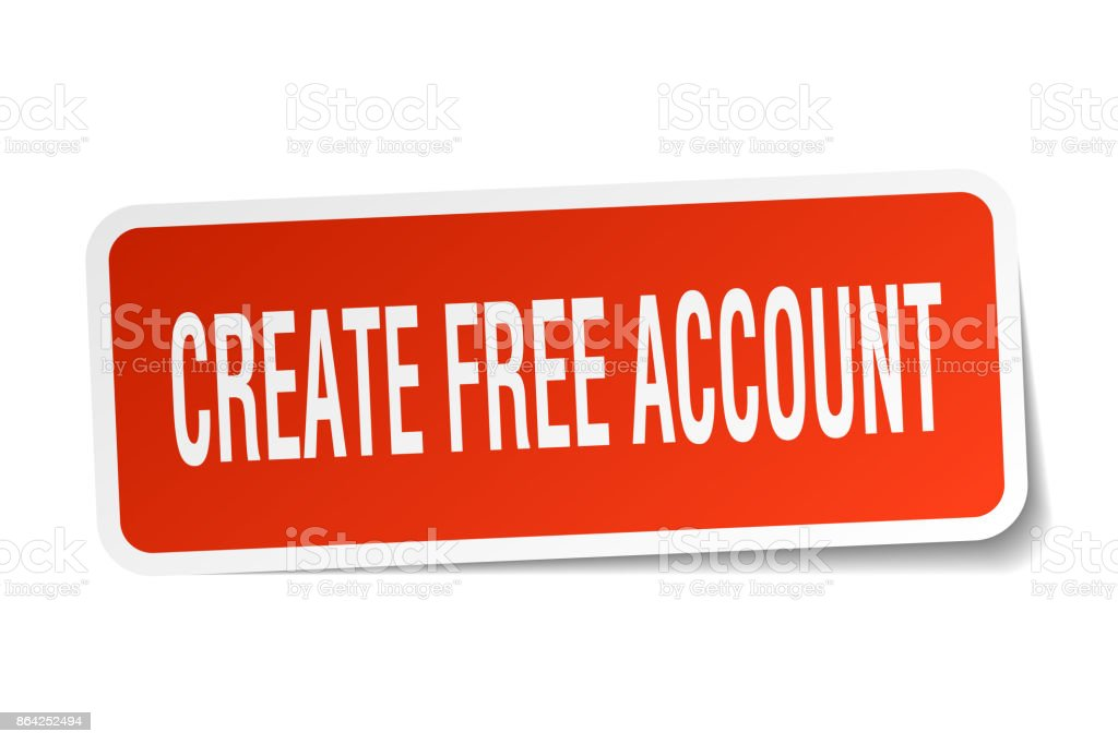 create free account square sticker on white royalty-free create free account square sticker on white stock vector art & more images of badge