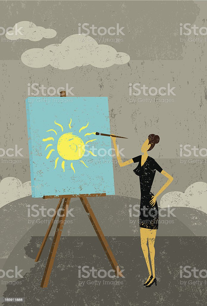 Creating a brighter future royalty-free stock vector art