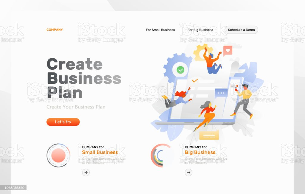 creating business plan web page stock vector art more images of