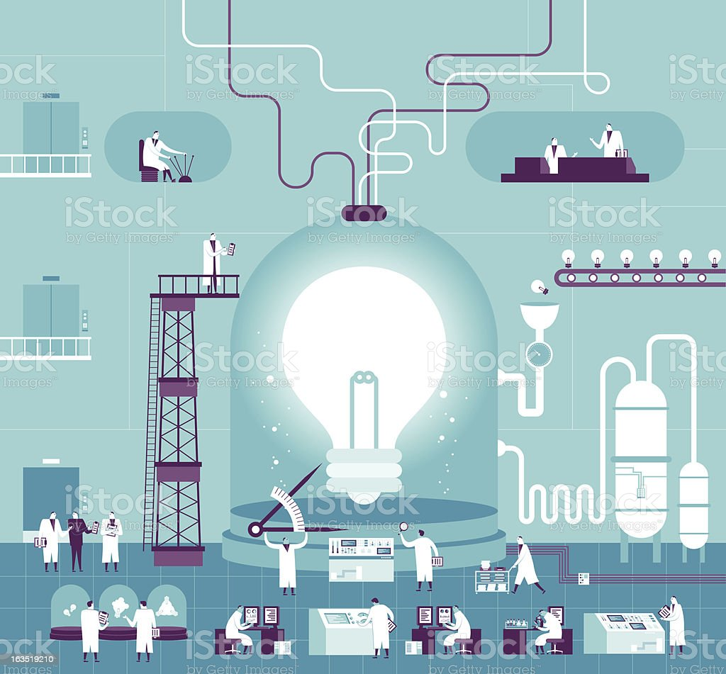 Creating Idea Vector illustration - Creating Idea Adult stock vector