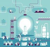 Vector illustration - Creating Idea