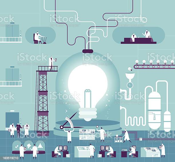 Creating Idea Stock Illustration - Download Image Now
