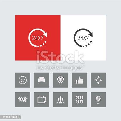 Creative 24X7 Icon.