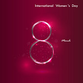 Creative 8 March vector design with international women's day icon.Women's day symbol. Minimalistic design for international women's day concept.Vector illustration