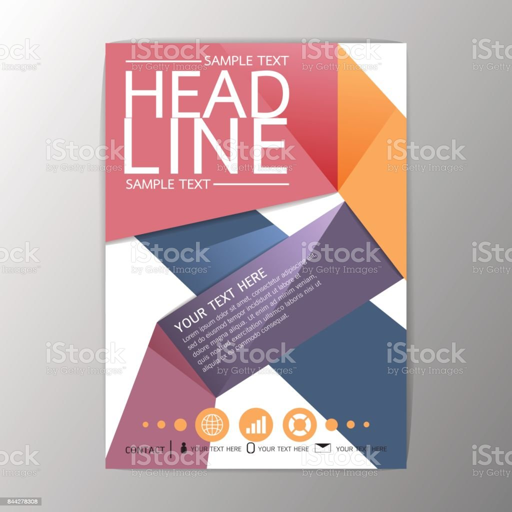 Creative Book Cover Design Samples ~ A creative abstract background design brochure template flyer