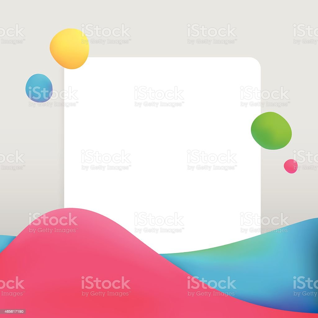 Creative abstract background with bright waves vector art illustration