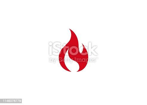 istock Creative Abstract Fire Logo 1146078779