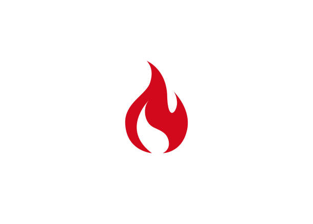 bildbanksillustrationer, clip art samt tecknat material och ikoner med creative abstrakt brand logo typ - flames