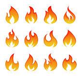 istock Creative Abstract Fire Logos 1201215274