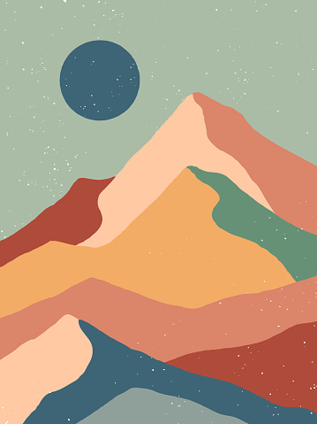 Creative abstract mountain landscape background