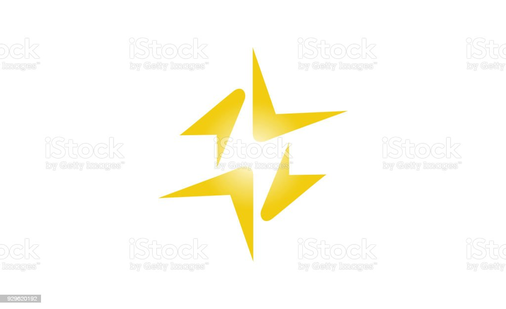 Creative Abstract Thunder Stock Vector Art More Images Of Abstract