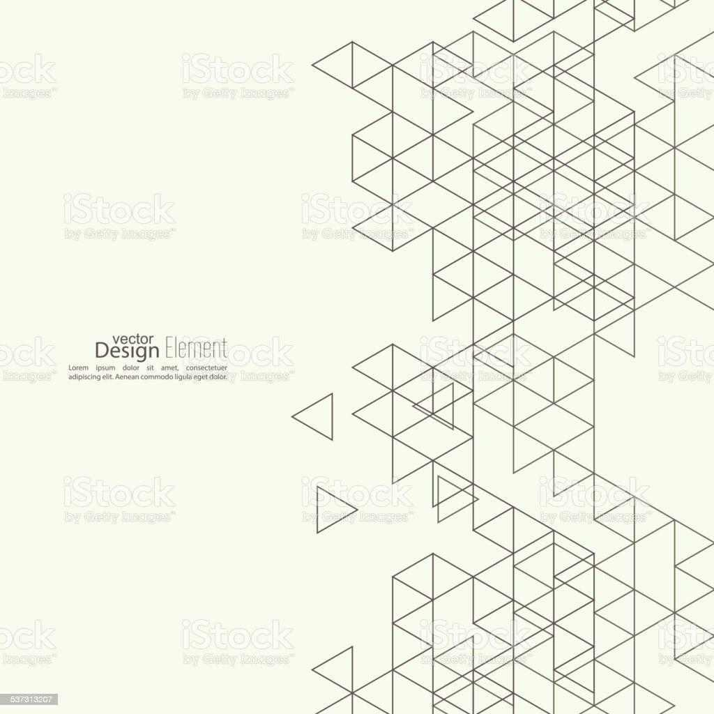 Creative abstract triangle pattern vector art illustration